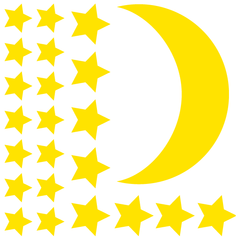 Moon and Stars Wall Stickers