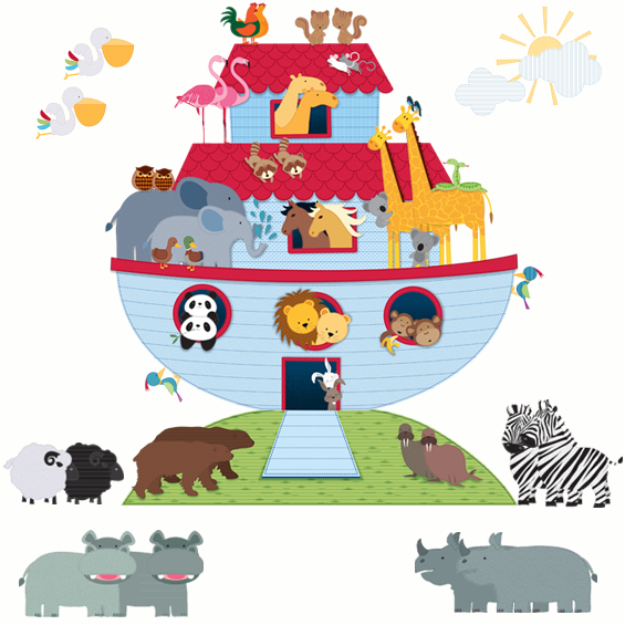Noah's Ark Wall Stickers