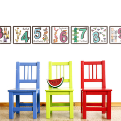 Number Wall Stickers