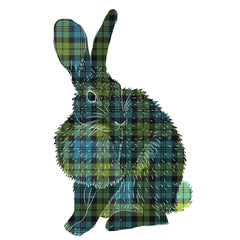 Rabbit Tartan Wall Sticker