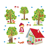 Red Riding Hood Wall Stickers