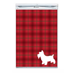 Red Tartan Fridge Decal