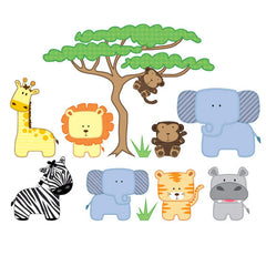 Safari Animals Wall Stickers