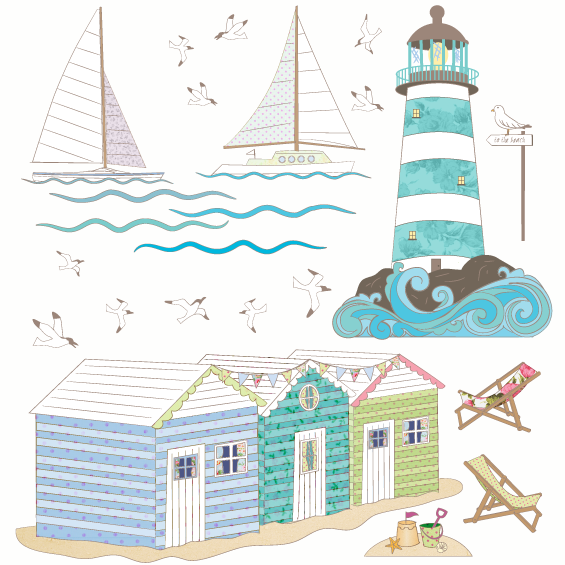 Seaside View Wall Sticker