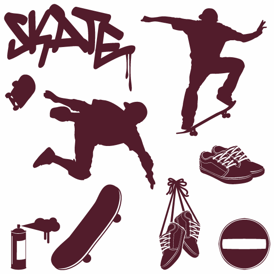 Skateboarding Wall Sticker