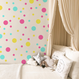 Spots Wall Stickers Multicoloured