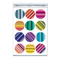 Striped Dot Fridge Decal