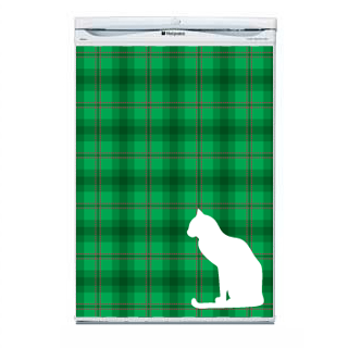 Green Tartan Fridge Decal