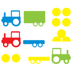 Tractor Wall Stickers Multicoloured 2