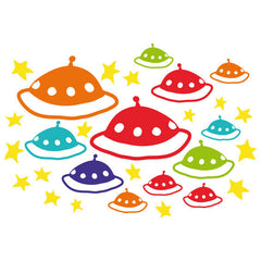 UFO Wall Stickers Multicoloured