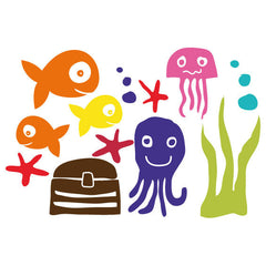 Underwater Wall Stickers Multicoloured