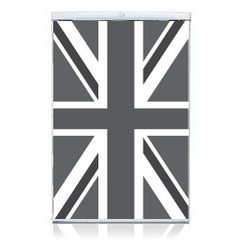 Union Jack Fridge Decal Black and White