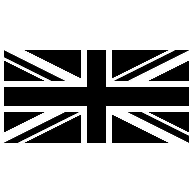Union Jack Mono Wall Stickers