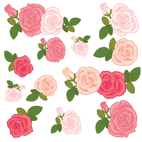Vintage Rose Wall Stickers