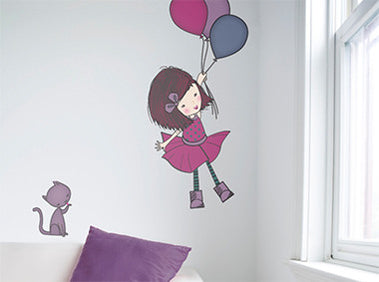 How to fit wall stickers