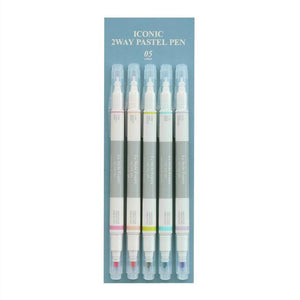 2 Way Pastel Pen Set-Pens-Iconic-nóta póca