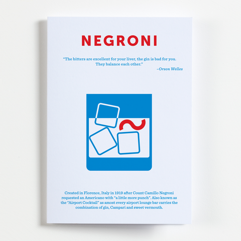 Negroni recipe greeting card