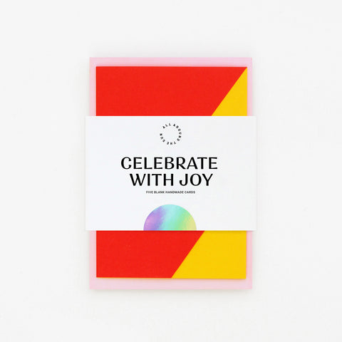 'Celebrate with Joy' Collection of 5 Cards