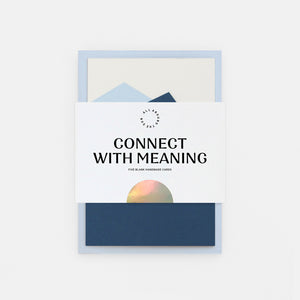 'Connect with Meaning' Collection of 5 Cards
