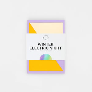 'Winter Electric Night' Collection of 5 Cards