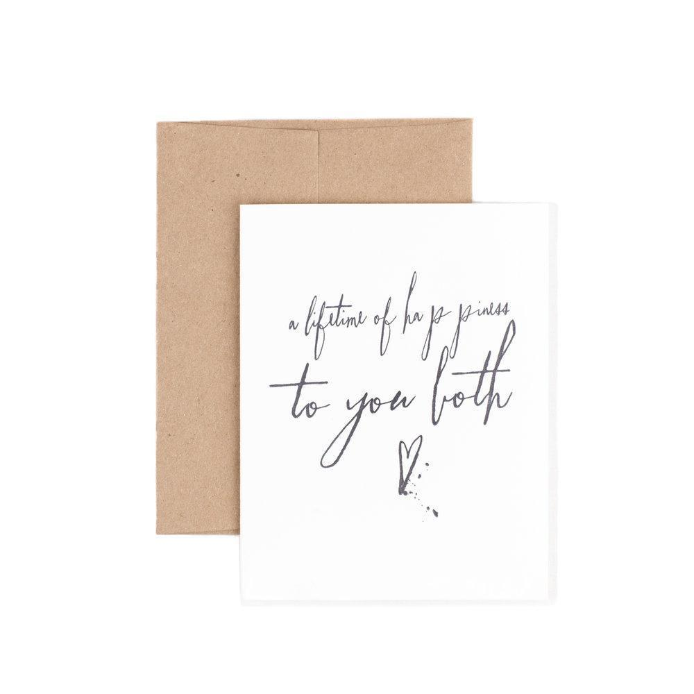 A Lifetime of Happiness to You Both-Cards-The Pear in Paper-nóta póca
