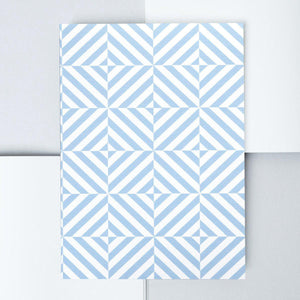 A5 Layflat Notebook in Blue Alma Print - Plain-Notebooks-ola Stationery-nóta póca