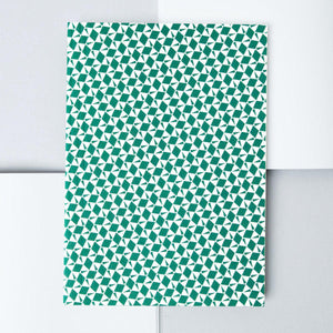 A5 Layflat Notebook in Green Victor Print - Plain-Notebooks-ola Stationery-nóta póca
