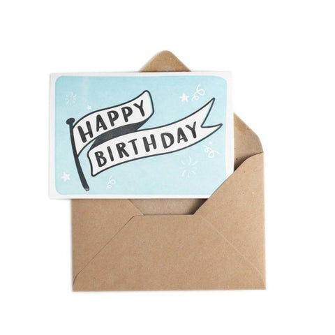 Happy Birthday Banner-Cards-Hunter Paper Co.-nóta póca