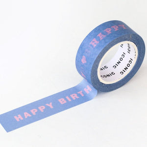 Happy Birthday Washi Tape-Washi Tape-Iconic-nóta póca