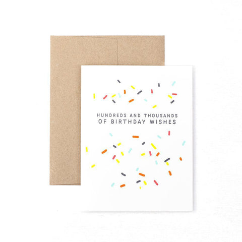 Hundreds and thousands of birthday wishes-Cards-The Pear in Paper-nóta póca