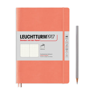 Leuchtturm1917 A5 Hardcover Notebook in Bellini-Notebooks-leuchtturm 1917-Dotted-nóta póca