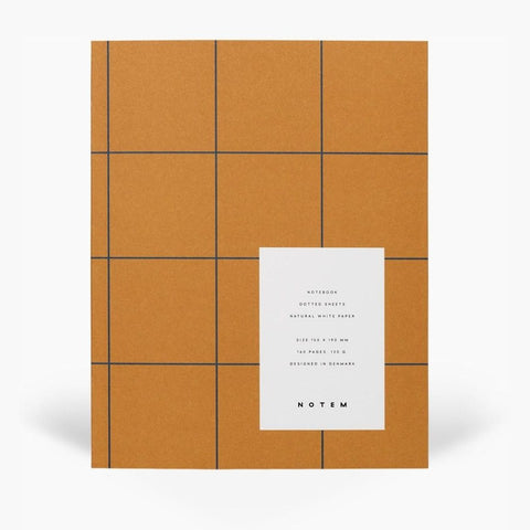 Ochre Flat Lay Notebook - Dotted