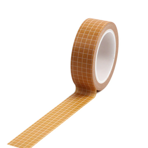 Orange Grid Washi Tape-Washi Tape-nóta póca-nóta póca
