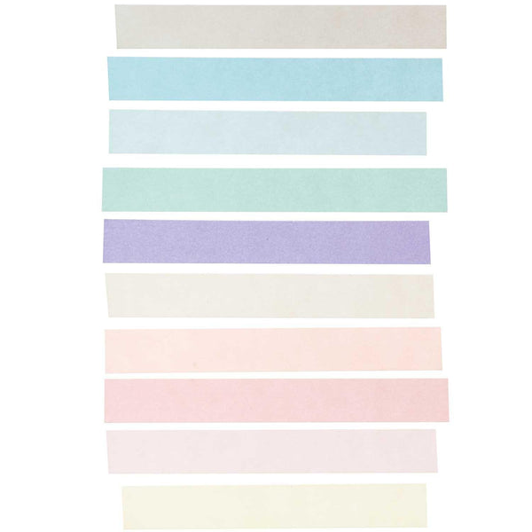 PAPER POETRY TAPE SET PASTEL 15MM 5M 10 PIECES-Washi Tape-paper poetry-nóta póca