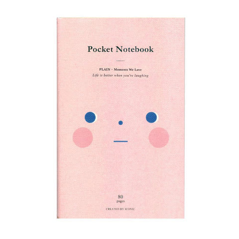 Pocket Notebook Shy - Plain-Notebooks-Iconic-nóta póca
