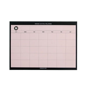 Sticky Monthly Planner - Pink-Sticky Notes-Iconic-nóta póca