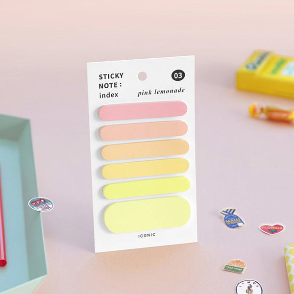 Sticky Notes: Index - Pink Lemonade-Sticky Notes-Iconic-nóta póca