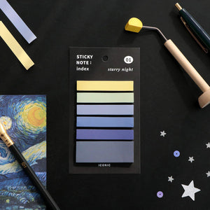 Sticky Notes: Index - Starry Night-Sticky Notes-Iconic-nóta póca