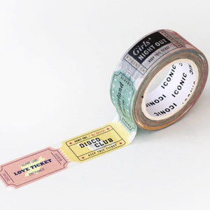Ticket Washi Tape-Washi Tape-Iconic-nóta póca