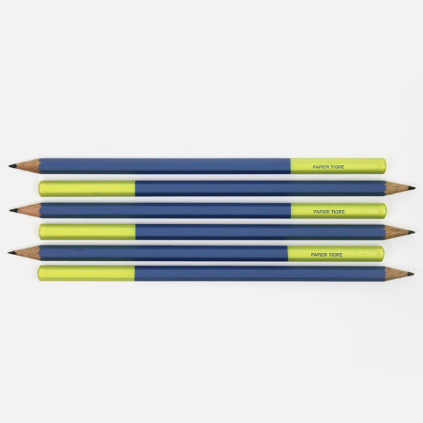 Two Tone Pencil-pencils-Papier Tigre-Blue / Yellow-nóta póca