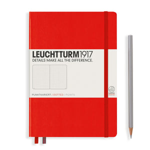 Leuchtturm1917 A5 Hardcover Notebook in Red