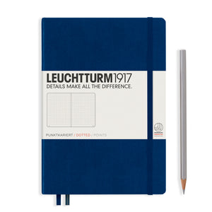 Leuchtturm1917 A5 Hardcover Notebook in Navy