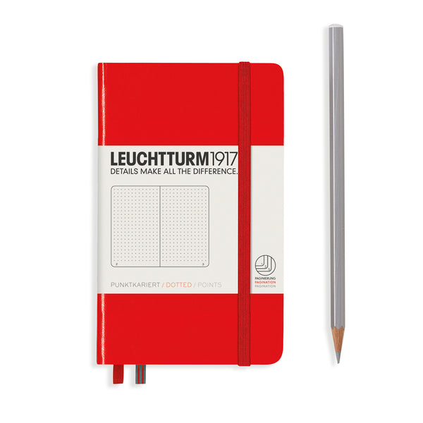 Leuchtturm1917 A6 Hardcover Notebook in Red