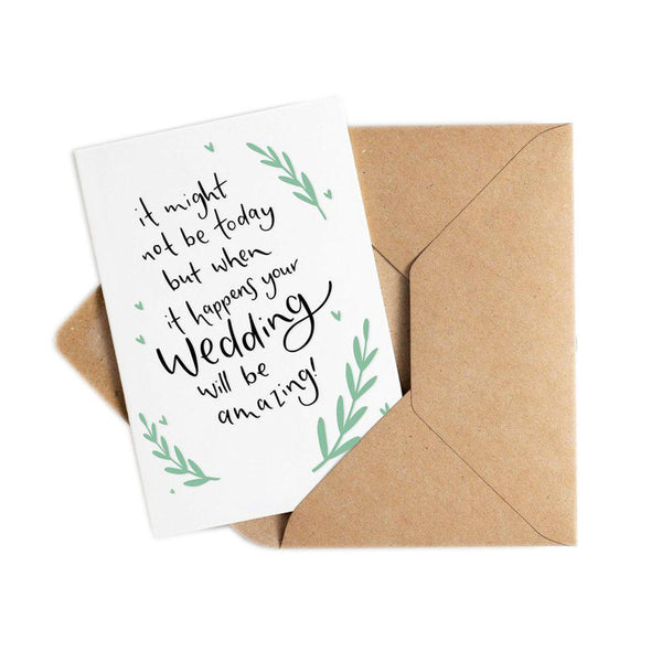 Wedding Postponement Card 'When It Happens…'-Cards-Hunter Paper Co.-nóta póca