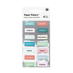Weekday Stickers X 4 Sheets-Stickers-paper poetry-nóta póca