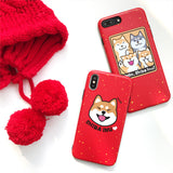 Cute Red Tongue Shiba iPhone Case