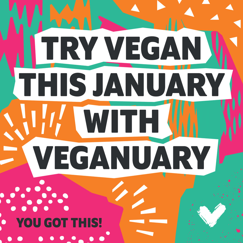 Take the PLEDGE and GO VEGAN THIS JANUARY - IT'S VEGANUARY!