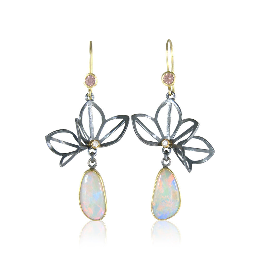 How I Work: Making Lotus Fold Opal Earrings for Fire & Forge