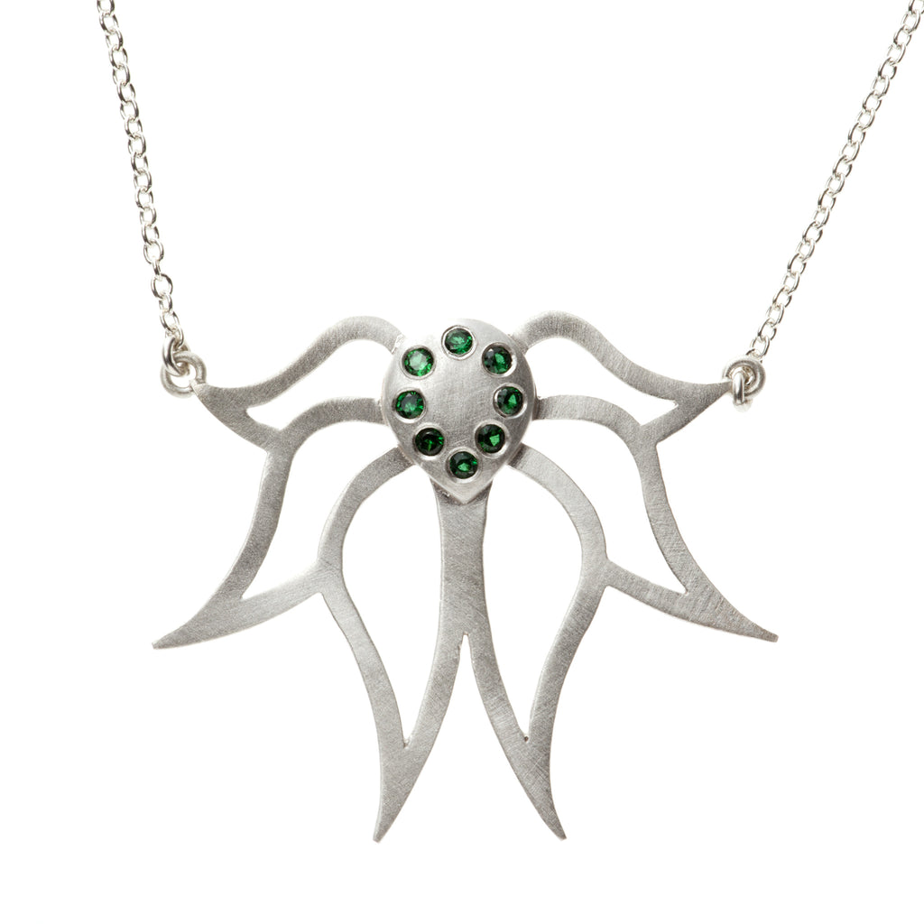 garden of products little by silver lotus pendant