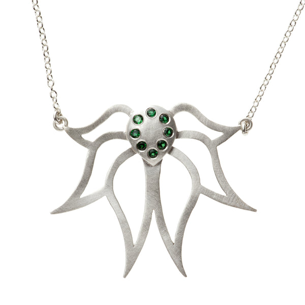 Sparkly Lotus Necklace